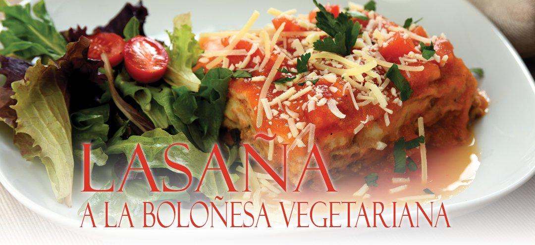 Lasaña a la Boloñesa Vegetariana Nutriworld