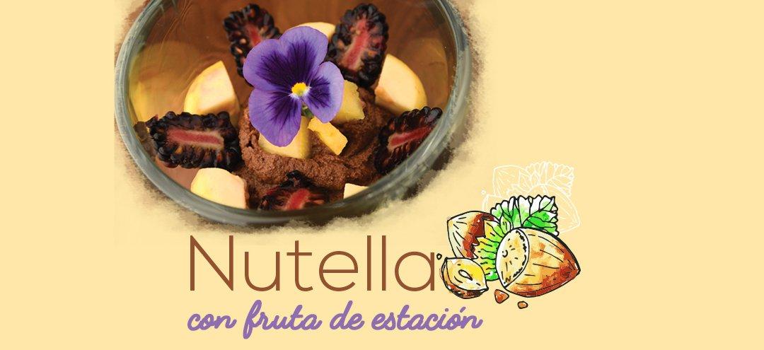 Nutella con fruta de estación